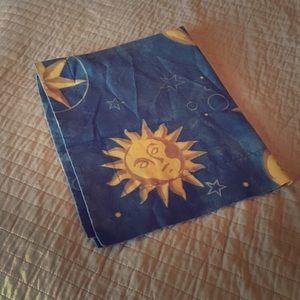 Vintage Celestial hobo style pillow sham GUC